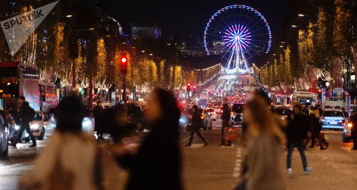 التحضيرات - الاحتفال - عيد الميلاد المجيد - رأس السنة، باريس، فرنسا