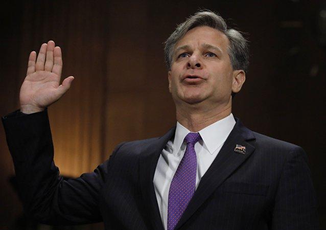 رئيس مكتب التحقيقات الفدرالي الاميركي كريستوفر راي