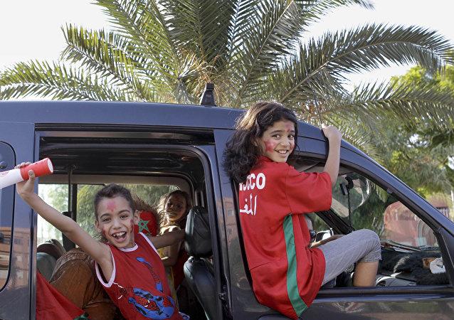 مشجعو منتخب المغرب