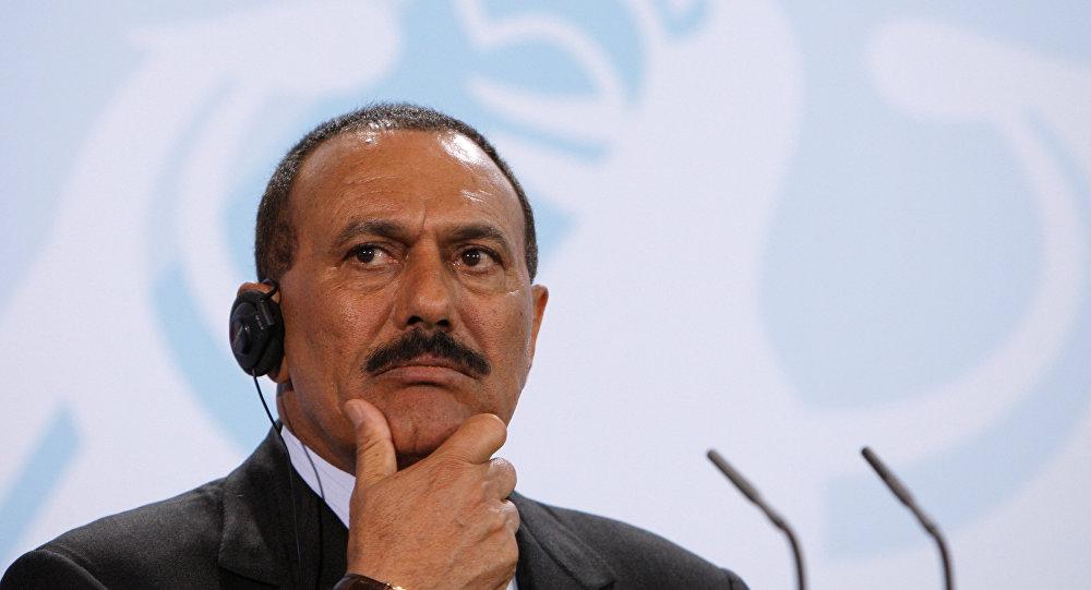 الرئيس السابق علي عبدالله صالح في برلين، ألمانيا 27 فبراير/ شباط 2017