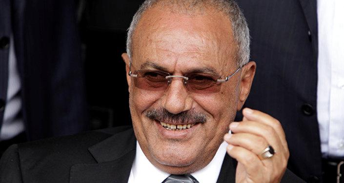 الرئيس السابق علي عبدالله صالح في صنعاء، اليمن 22  أبريل/ نيسان 2012