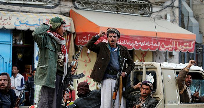 ردود أفعال أنصار الله بعد مقتل الرئيس اليمني السابق علي عبدالله صالح في صنعاء، اليمن 4 ديسمبر/ كانون الأول 2017