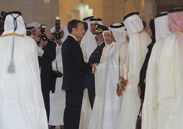 ماكرون في قطر