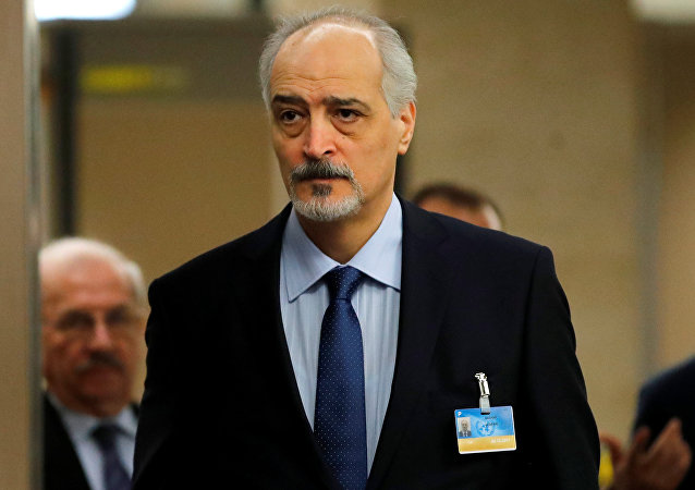 المندوب السوري في الأمم المتحدة بشار الجعفري في جنيف، سويسرا 1 ديسمبر/ كانون الأول 2017