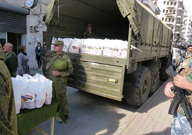 المساعدات الانسانية الروسية في سوريا
