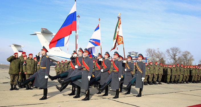 وصول كتيبة الشرطة العسكرية الروسية إلى محج قلعة قادمة من سوريا