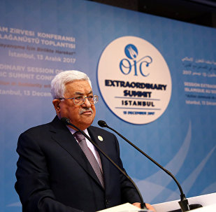 الرئيس الفلسطيني محمود عباس في اسطنبول، تركيا 12 ديسمبر/ كانون الأول 2017