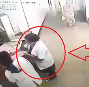 توثيق لحظة وفاة ممرضة أثناء عملها