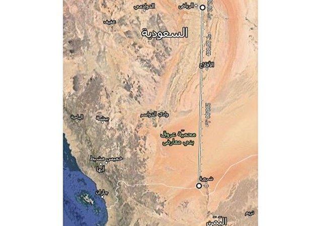 المسافة بين حدود اليمن والرياض