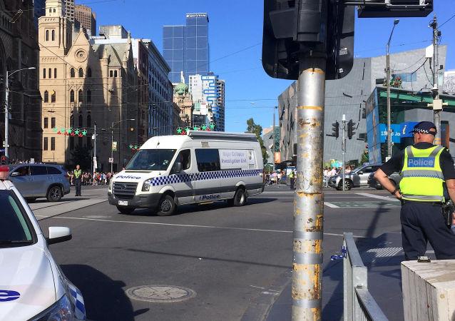 الشرطة الاسترالية في مكان عملية الدهس في ملبورن