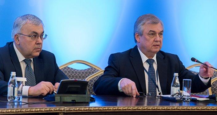 مبعوث الرئيس الروسي، رئيس الوفد الروسي إلى محادثات أستانا الدولية الخاصة بالأزمة السورية، الكسندر لافرينتيف
