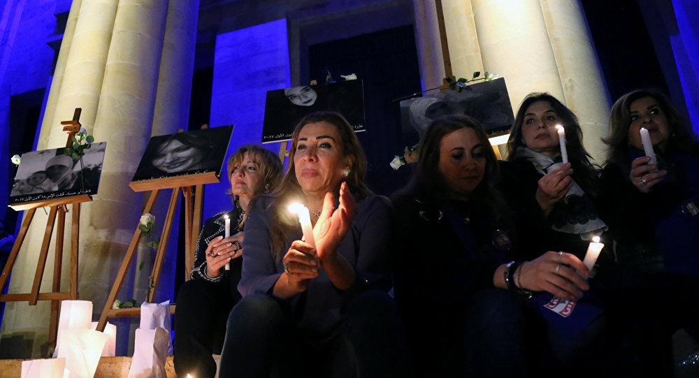 وقفة سيدات بيروت لتأييد حقوق المرأة