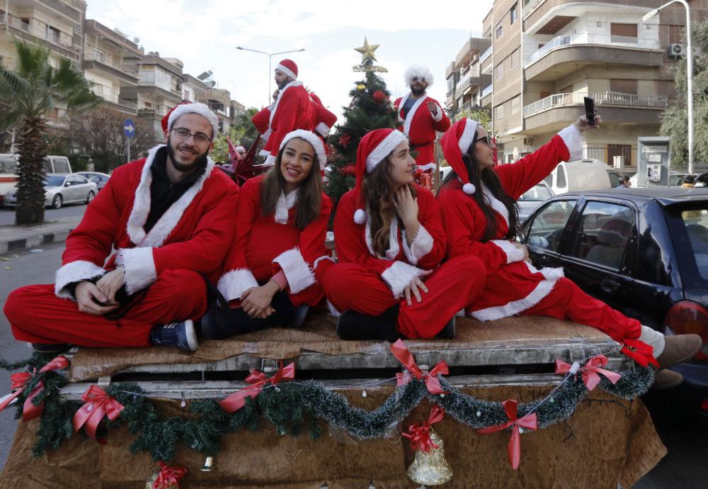 الاحتفالات بعيد الميلاد المجيد - دمشق، سوريا 24 ديسمبر/ كانون الأول 2017