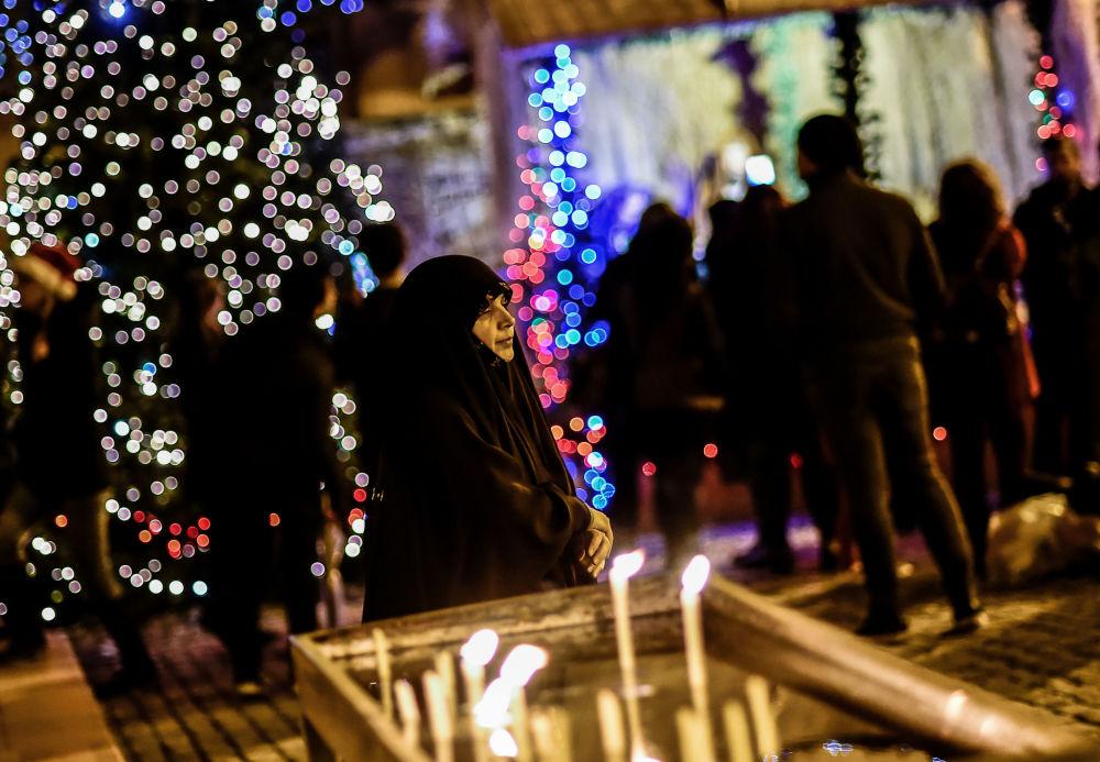 الاحتفالات بعيد الميلاد المجيد - اسطنبول، تركيا 24 ديسمبر/ كانون الأول 2017
