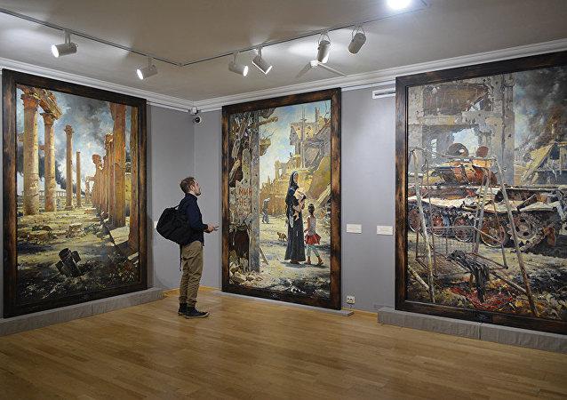 الرسام الروسي والأكاديمي في الأكاديمية الروسية للفنون والفنان الشعبي الروسي فاسيلي نيستيرينكو