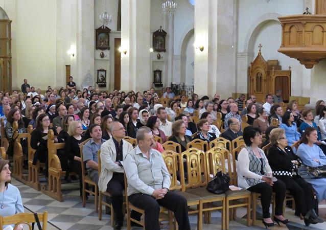 عيد الميلاد في كنيسة في حلب