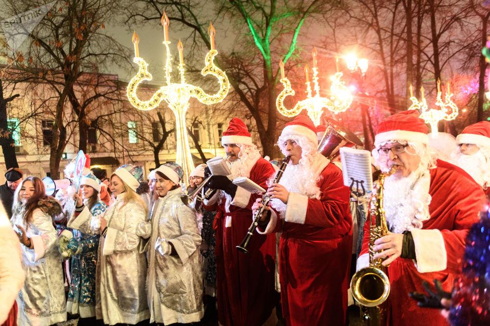 مسيرة سنيغوروتشكا في حي تفيرسكوي بولفار بموسكو