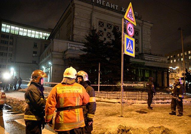 موقع انفجار سان بطرسبورغ