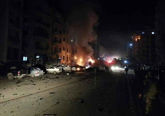 انفجار في مدينة إدلب