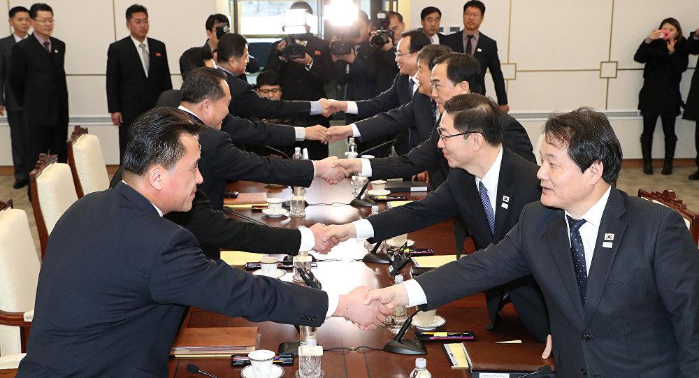المحادثات بين كوريا الجنوبية والشمالية، 9يناير/كانون الثاني 2018