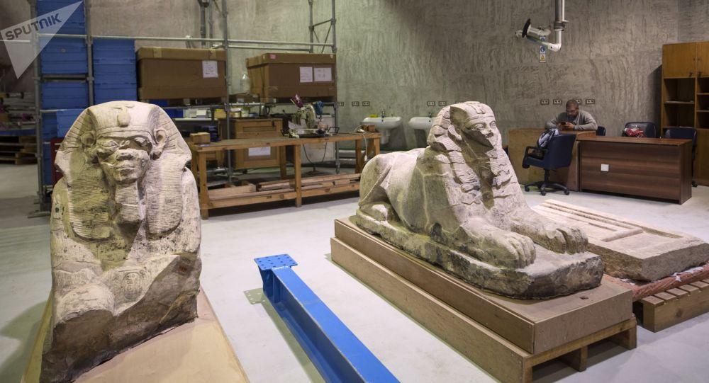 مركز ترميم الآثار التابع للمتحف المصري الكبير في الجيزة