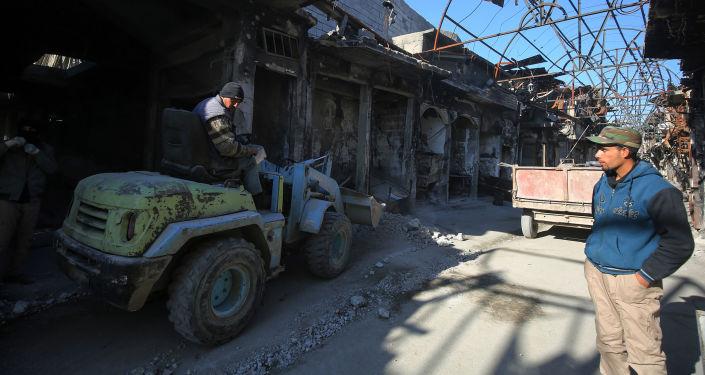 حجم الدمار الذي لحق المحال التجارية في الموصل