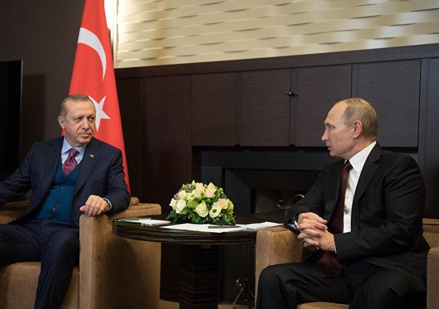 لقاء بوتين وأردوغان