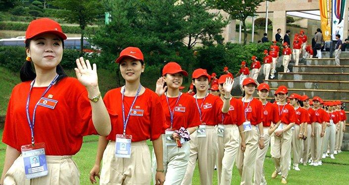 مشجعات في كوريا الشمالية