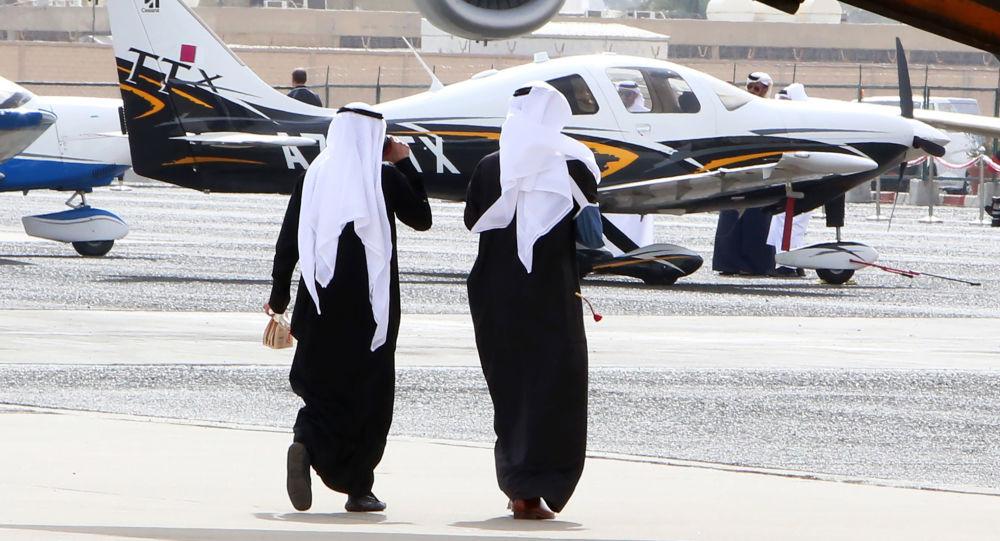 زوار خلال العرض الجوي في الكويت، 17 يناير/ كانون الثاني 2018