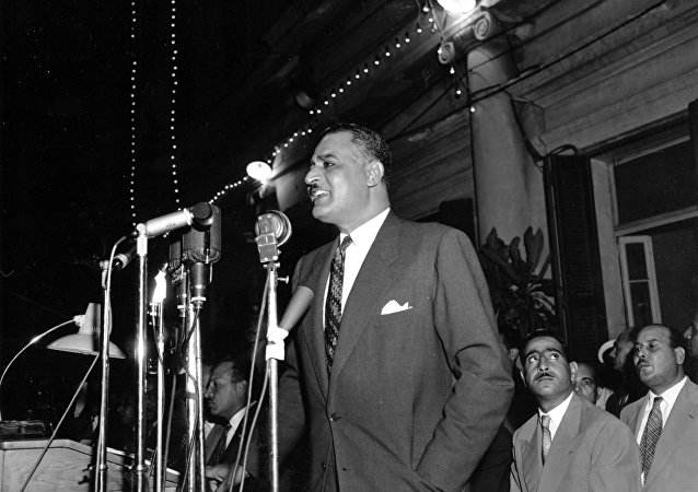 الرئيس المصري جمال عبد الناصر في عام 1957