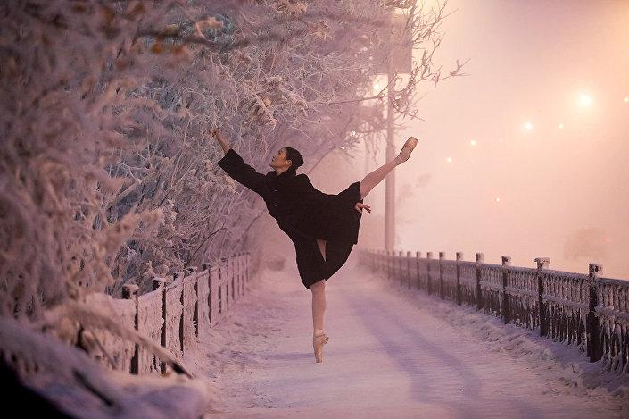 راقصة الباليه في أبرد منطقة روسية