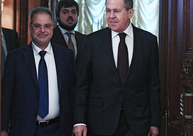 لقاء لافروف مع نظيره اليمني في موسكو، 22 يناير 2018