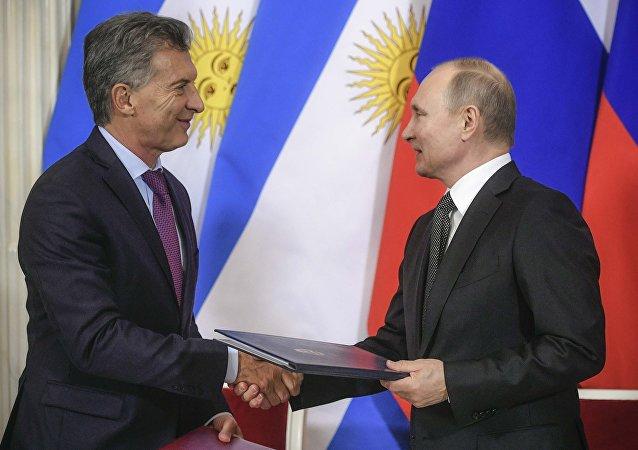 لقاء بوتين ورئيس الأرجنتين 23 يناير 2018