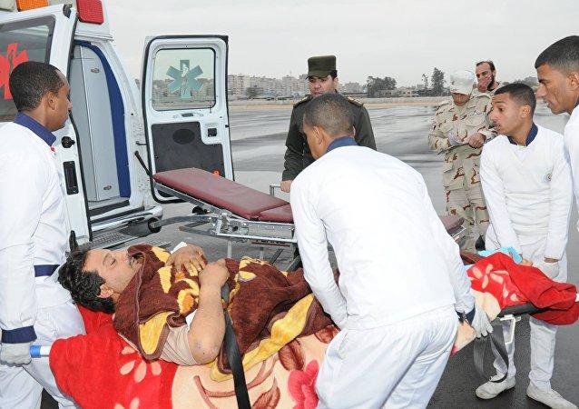أحد مصابي العمليات الإرهابية في بنغازي