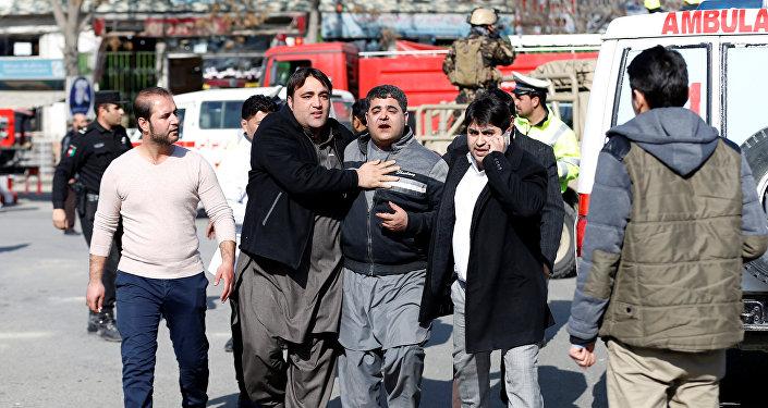 انفجار في حي السفارات في كابول 27 يناير 2018