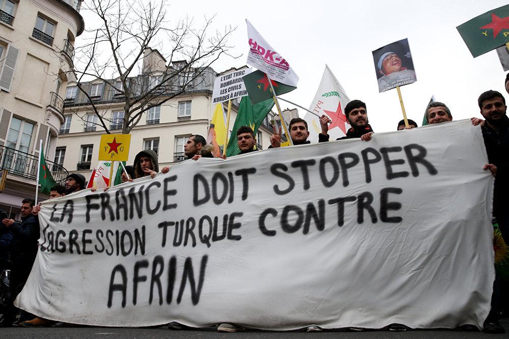 مسيرة في باريس احتجاجا على التوغل التركي في سوريا
