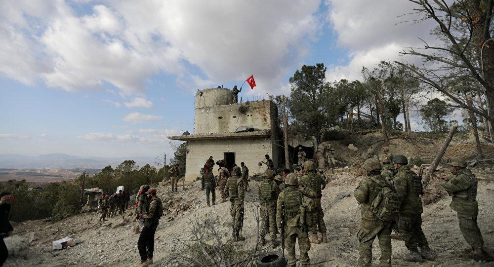 قوات الجيش التركي في عفرين السورية، 28 يناير/ كانون الثاني 2018
