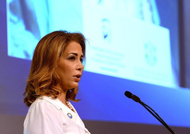 الأميرة هيا بنت الحسين زوجة حاكم دبي الشيخ محمد بن راشد آل مكتوم