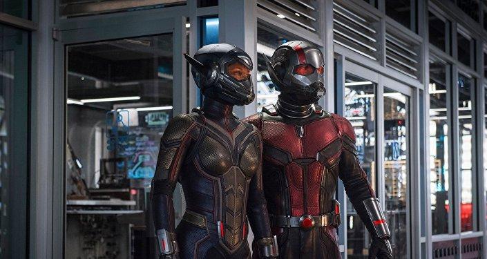 مشهد من الجزء الثاني من الفيلم الأمريكي Ant-Man and the Wasp
