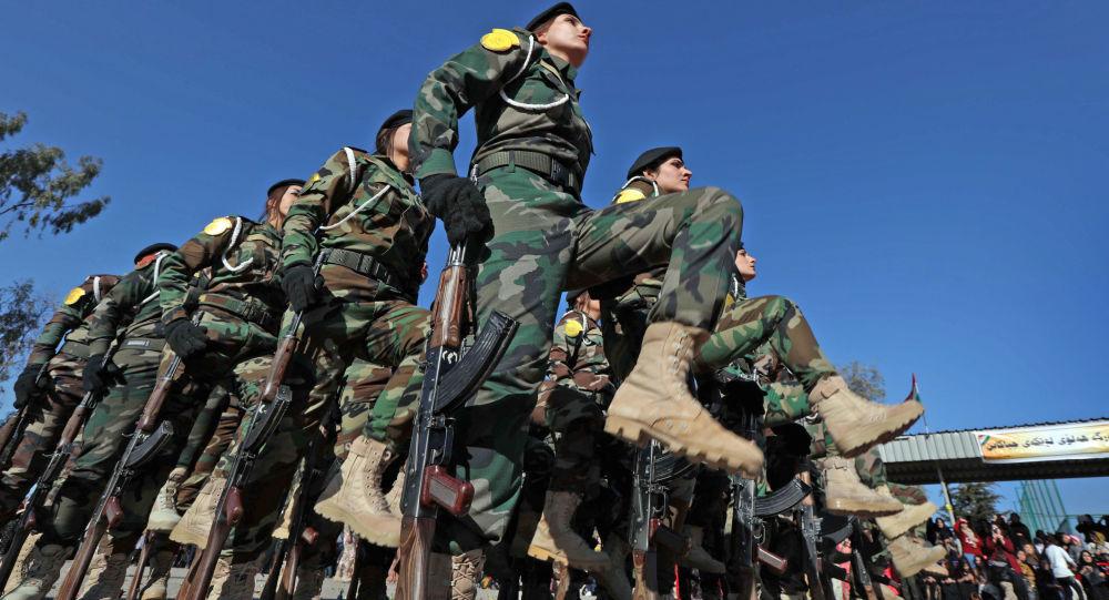 قوات البشمركة الكردية في بلدة زاخو، 500 كلم شمال بغداد، العراق 30 يناير/ كانون الثاني 2018