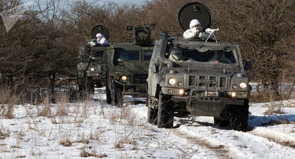 تدريبات وحدة المهام الخاصة لمكافحة الأهداف الجوية في منطقة ستافروبول