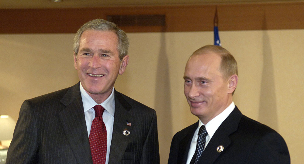 بوتين وجورج بوش