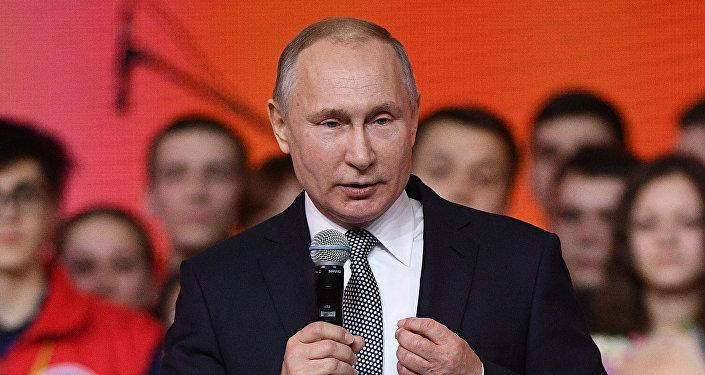 الرئيس الروسي فلاديمير بوتين خلال منتدى الشباب في قازان