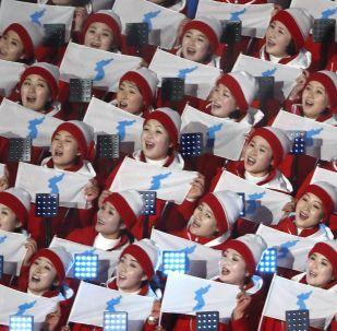 مراسم افتتاح دورة الألعاب الأولمبية الشتوية الـ 23 في بيونغ تشانغ، كوريا الجنوبية