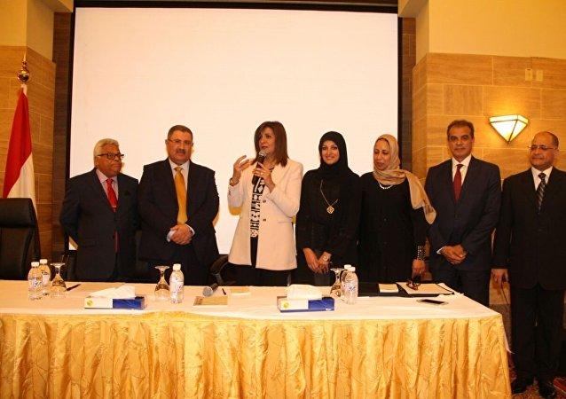 وزيرة الدولة للهجرة وشئون المصريين بالخارج مع الجالية المصرية بجدة