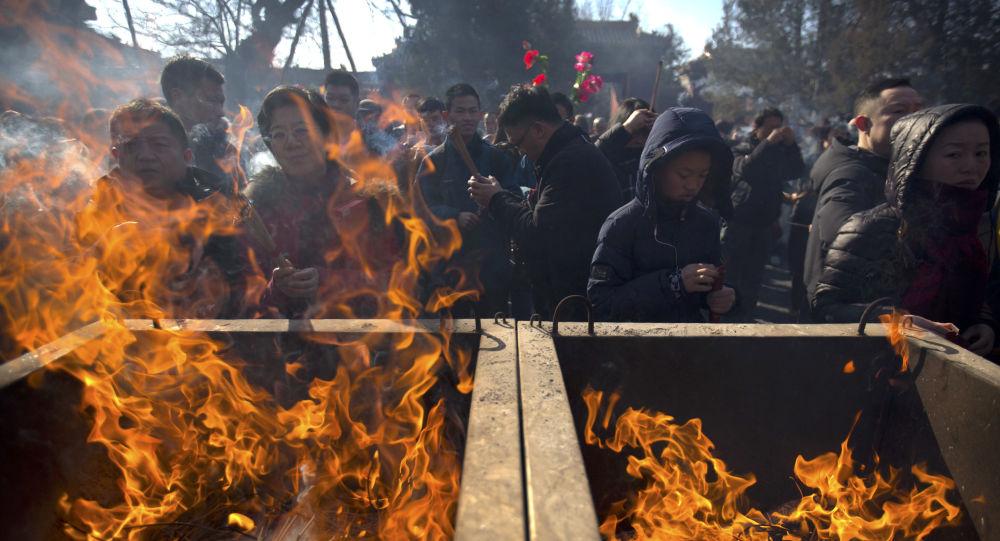 الاحتفال برأس السنة الصينية في بكين، الصين 14 فبراير/ شباط 2018
