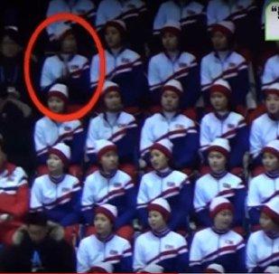 مشجعة من كوريا الشمالية
