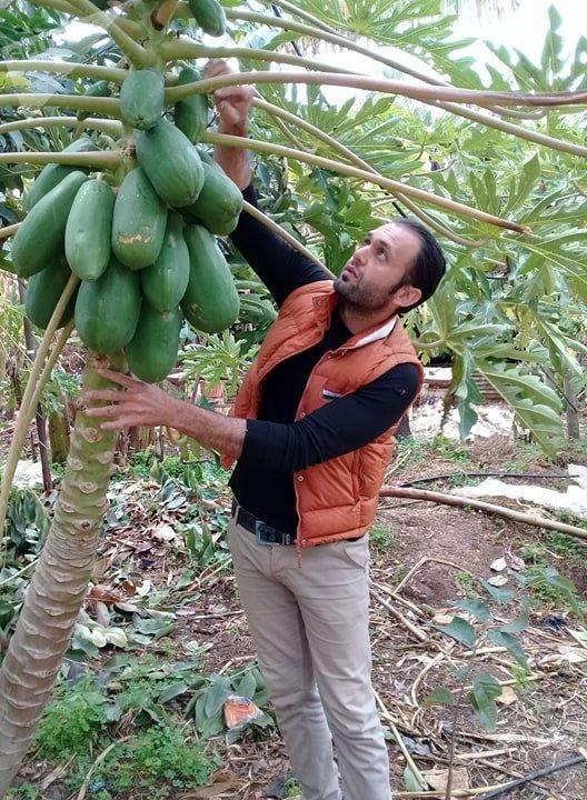 شاب سوري يؤسس مزرعة استوائية في سوريا