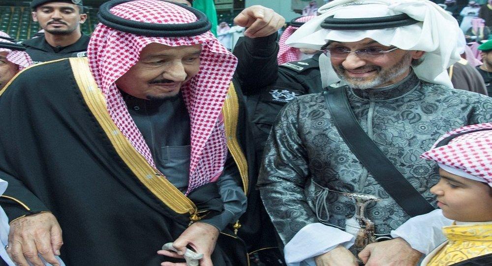 الملك سلمان والوليد بن طلال