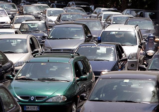 الزحام المروري في روما